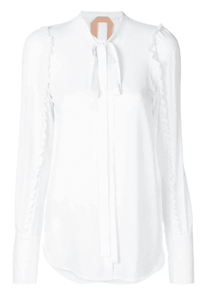 No21 ruffled trim shirt - White