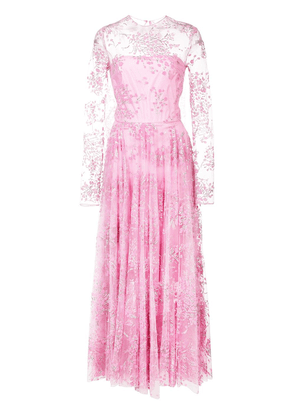 Christian Siriano embellished tulle full dress - Pink