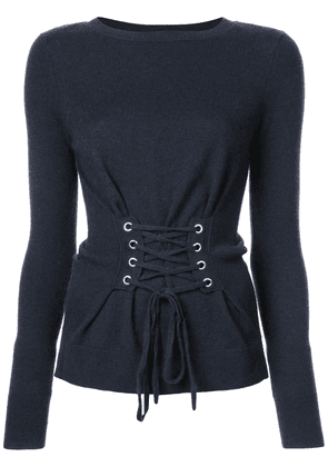 Autumn Cashmere lace-up sweater - Blue