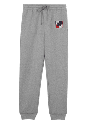 Burberry Chequer EKD Cotton Trackpants - Grey