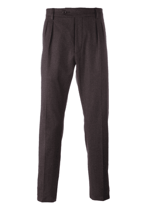 Al Duca D'Aosta 1902 tapered pleat detail trousers - Pink
