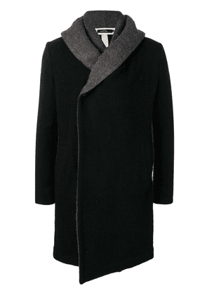 A New Cross double hooded artisan coat - Black