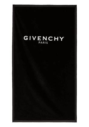 Givenchy black logo towel