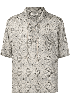 Saint Laurent abstract print T-shirt - Grey