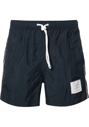 Thom Browne Classic Swim Trunk With Red, White And Blue Grosgrain Side