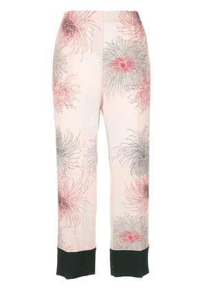 No21 printed cropped trousers - Pink
