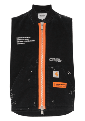 Heron Preston Carhartt contrasting zip sleeveless bomber jacket -