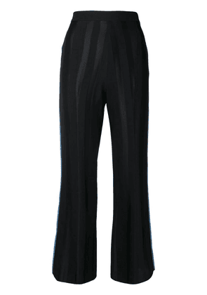 Loewe piped detail cropped trousers - Black