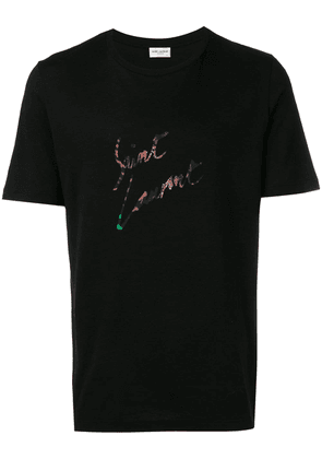 Saint Laurent animal-print T-shirt - Black