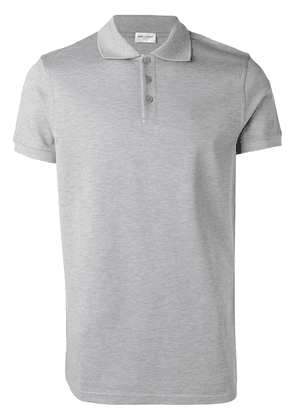 Saint Laurent basic polo shirt - Grey