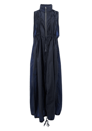 Blindness high neck dress - Blue