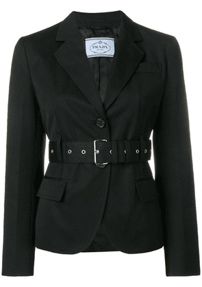 Prada belted fitted blazer - Black