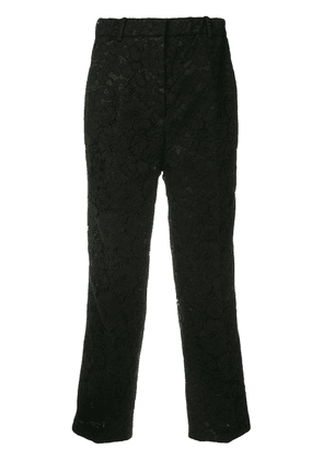 No21 cropped lace trousers - Black