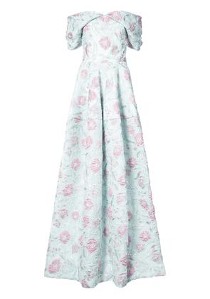 Christian Siriano V-neck floral gown - Pink