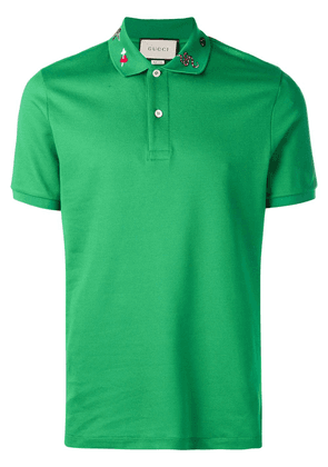 Gucci Embroidered polo shirt - Green
