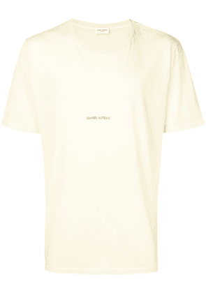 Saint Laurent logo print T-shirt - Yellow