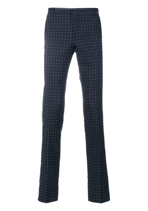 Al Duca D'Aosta 1902 dot effect trousers - Blue