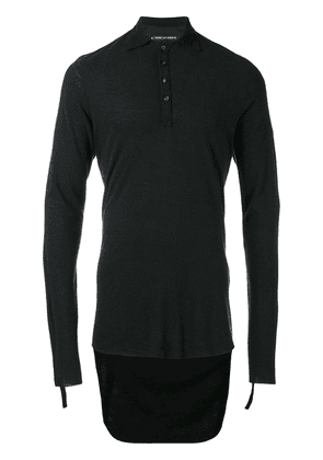 Cedric Jacquemyn drop hem polo shirt - Black