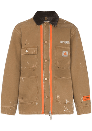 Heron Preston x Carhartt wool blend paint splatter jacket - Green