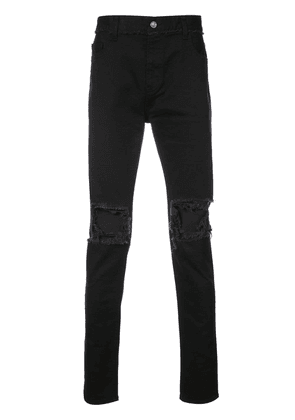 Christian Dada ripped effect jeans - Black