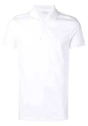 Saint Laurent classic plain polo-shirt - White