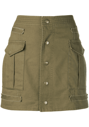 Saint Laurent button-down mini skirt - Green