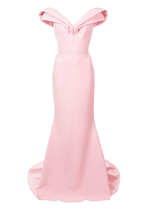 Christian Siriano off the shoulder sweetheart gown - Pink