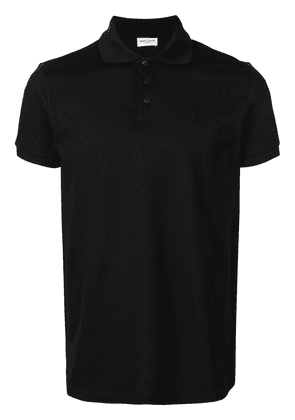 Saint Laurent short-sleeve polo shirt - Black