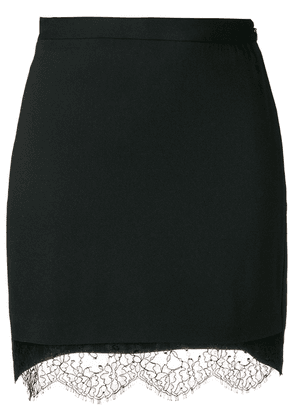 Dsquared2 lace hem mini skirt - Black