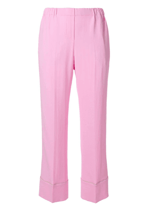 No21 pipe trim trousers - Pink