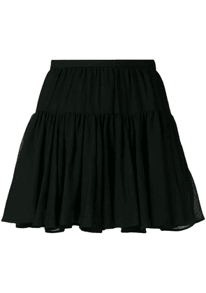 Saint Laurent tiered mini skirt - Black