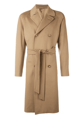 Caruso double breasted coat - Brown