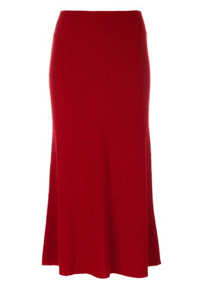Cashmere In Love midi knit skirt - Red