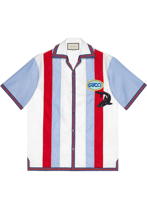 ab20c324b Gucci Oxford bowling shirt with patches - White