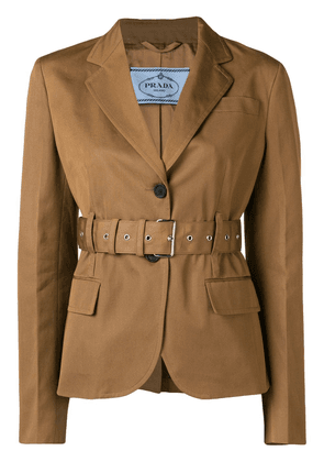 Prada belted jacket - Brown