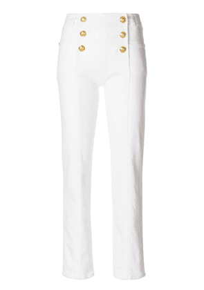 Balmain double-breasted trousers - White