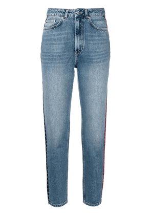 Anine Bing side stripe high waisted jeans - Blue