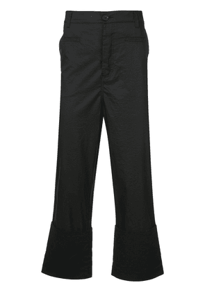 Loewe flared cropped trousers - Black