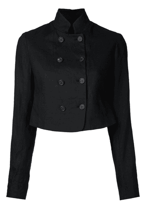 Forme D'expression double breasted cropped jacket - Black