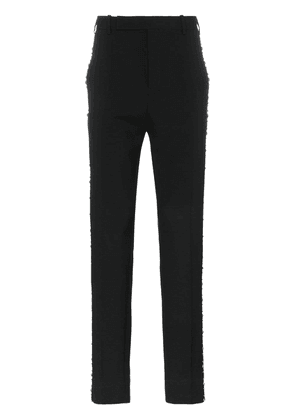 Saint Laurent stud embellished wool tuxedo trousers - Black