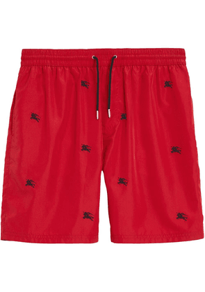 Burberry archive logo swim shorts - Red