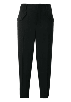 No21 cropped cargo trousers - Black