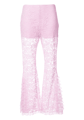 Givenchy flared lace trousers - Pink