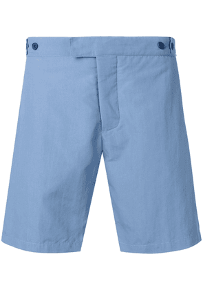 Frescobol Carioca tailored midi short - Blue