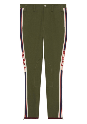 Gucci Gabardine pants with Gucci stripe - Green