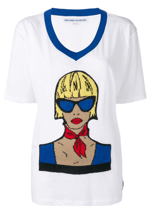Ermanno Scervino graphic print T-shirt - White
