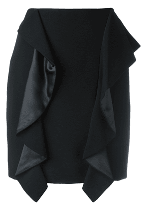 Givenchy draped panel mini skirt - Black