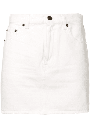 Saint Laurent short denim skirt - White