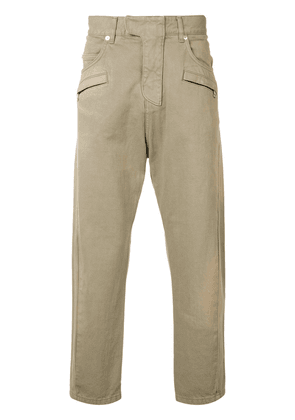 Balmain biker fly baggy trousers - Brown