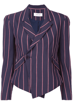 Derek Lam 10 Crosby Striped Cropped Asymmetrical Blazer - Blue
